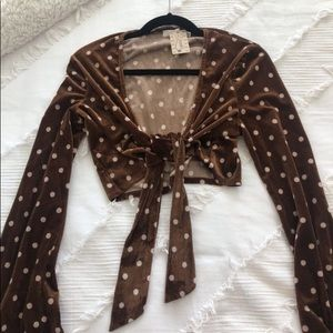 NWT Lush Tie-Front Top